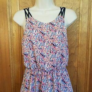 Lush, multicolored spaghetti strap dress, S